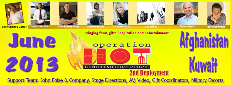 Operation HOT entertains troops 2013