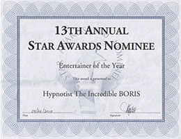 Star Awards Nominee - Entertainer of the Year