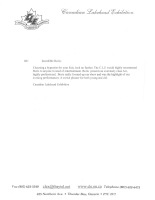 Canadian Lakehead Exhibition Reference Letter