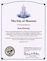 Houston Commends