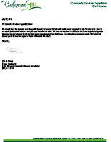Richmond Hill Ribfest Reference Letter