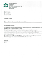 Sarnia Lambton Home Builders Association Reference Letter